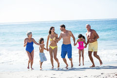 Happy family holding hands Royalty Free Stock Images