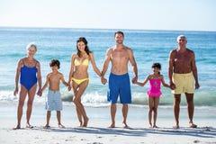 Happy family holding hands Royalty Free Stock Photos