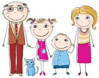 Happy family holding hands Stock Images