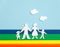 Happy family holding hands Royalty Free Stock Photography
