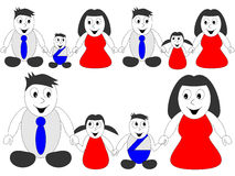 Happy family holding hands. Happy family - man, woman and children holding hands Royalty Free Stock Image