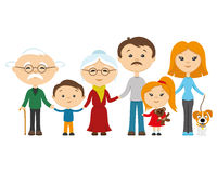 Happy family holding hands. Royalty Free Stock Photo