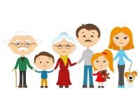 Happy family holding hands. Royalty Free Stock Photo