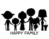 Happy family holding hands. Royalty Free Stock Image
