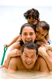Happy family on holiday Royalty Free Stock Image