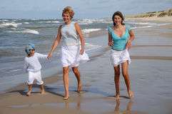 Happy family on holidays Stock Photo