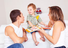 Happy family at home Stock Image