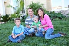 Happy Family at Home Stock Photos
