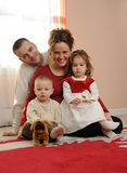 Happy family at home Royalty Free Stock Image