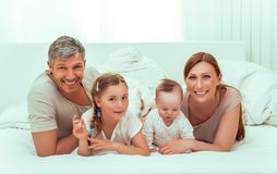 Family morning stock photo
