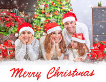 Happy family at home on Christmas Royalty Free Stock Photos