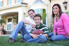 Happy Family at Home (Focus on Boy) Royalty Free Stock Photo