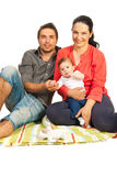 Happy family home Stock Images