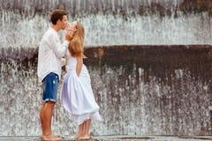 Happy family on honeymoon holidays royalty free stock images