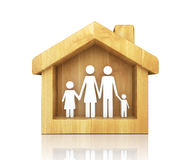 Happy family in house Stock Image