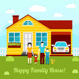 Happy family house concept illustration - couple Stock Image
