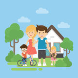 Happy family with house. Stock Images