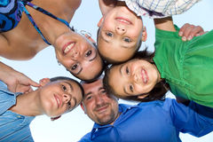 Happy Family Huddle Royalty Free Stock Image