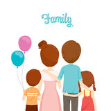 Happy Family Hugging Together. Family Embracing Hugging Parent Offspring Love Relationship Stock Photos