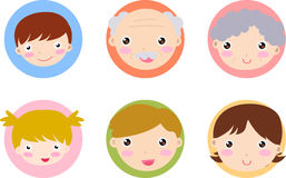 Happy family icon Royalty Free Stock Photos