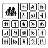 Happy family icon Stock Image