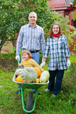 Happy Family In Garden Royalty Free Stock Images
