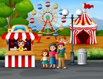 Free Happy Family In The Amusement Park Royalty Free Stock Photography - 141053977