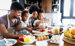 Free Happy Family In The Kitchen Having Fun And Cooking Together. Healthy Food At Home. Royalty Free Stock Images - 164161689