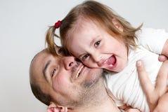 Happy family isolated Stock Photography