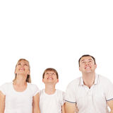 Happy family isolated over white Royalty Free Stock Photos