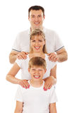 Happy family isolated over white background Royalty Free Stock Image