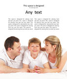 Happy family isolated over white background Stock Photography