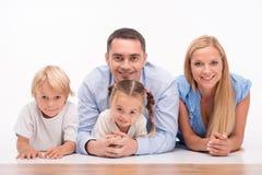 Happy family isolated on white background Stock Image