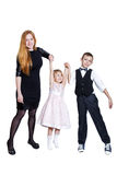 Happy family isolated on white background Stock Photography