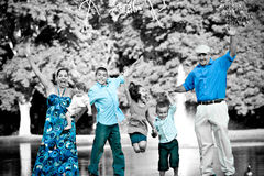 Happy Family Jumping Royalty Free Stock Images