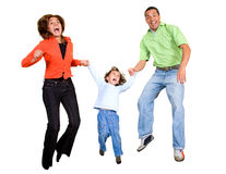 Happy family jumping Royalty Free Stock Photography