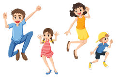 A happy family jumping Stock Images