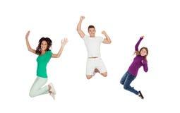 Happy family jumping Royalty Free Stock Photo