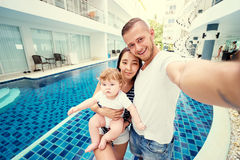 Happy family with kid Royalty Free Stock Image