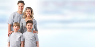 Happy family with kids Stock Image