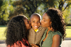 Happy Family, Kiss Royalty Free Stock Image