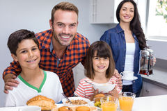 Happy family in kitchen Royalty Free Stock Images