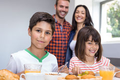 Happy family in kitchen Royalty Free Stock Photography