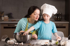 Happy family in the kitchen. Royalty Free Stock Photography