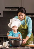 Happy family in the kitchen. Royalty Free Stock Images