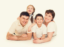 Happy family lie, happy concept Royalty Free Stock Photography