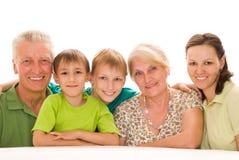 Happy family on a light Stock Photo