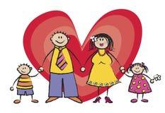 Happy Family Light Skin Tone Stock Image