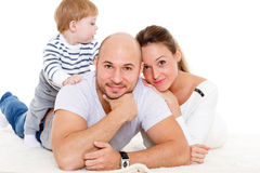 Happy family with little baby. Royalty Free Stock Photography