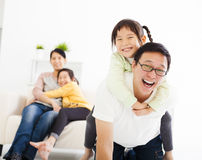 Happy  family in the living room Royalty Free Stock Image